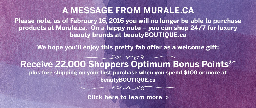 Murale's Online Store Closing & Merging Into Beauty Boutique