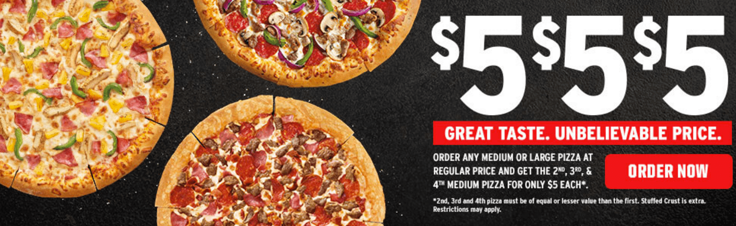 Get discounts on pizza, garlic bread and more with a Pizza Hut Australia promo code or coupon. 50 Pizza Hut Australia coupons now on RetailMeNot. December coupon codes end soon!