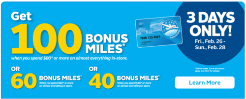 Rexall PharmaPlus Canada Bonus AIR Reward Miles