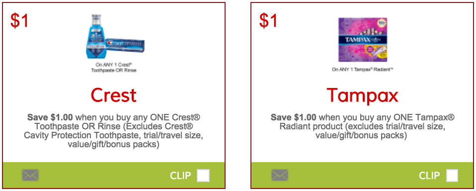 image about Tampax Coupons Printable named SmartSource.ca Discount coupons: Help you save $1.00 Upon Crest Toothpaste Or