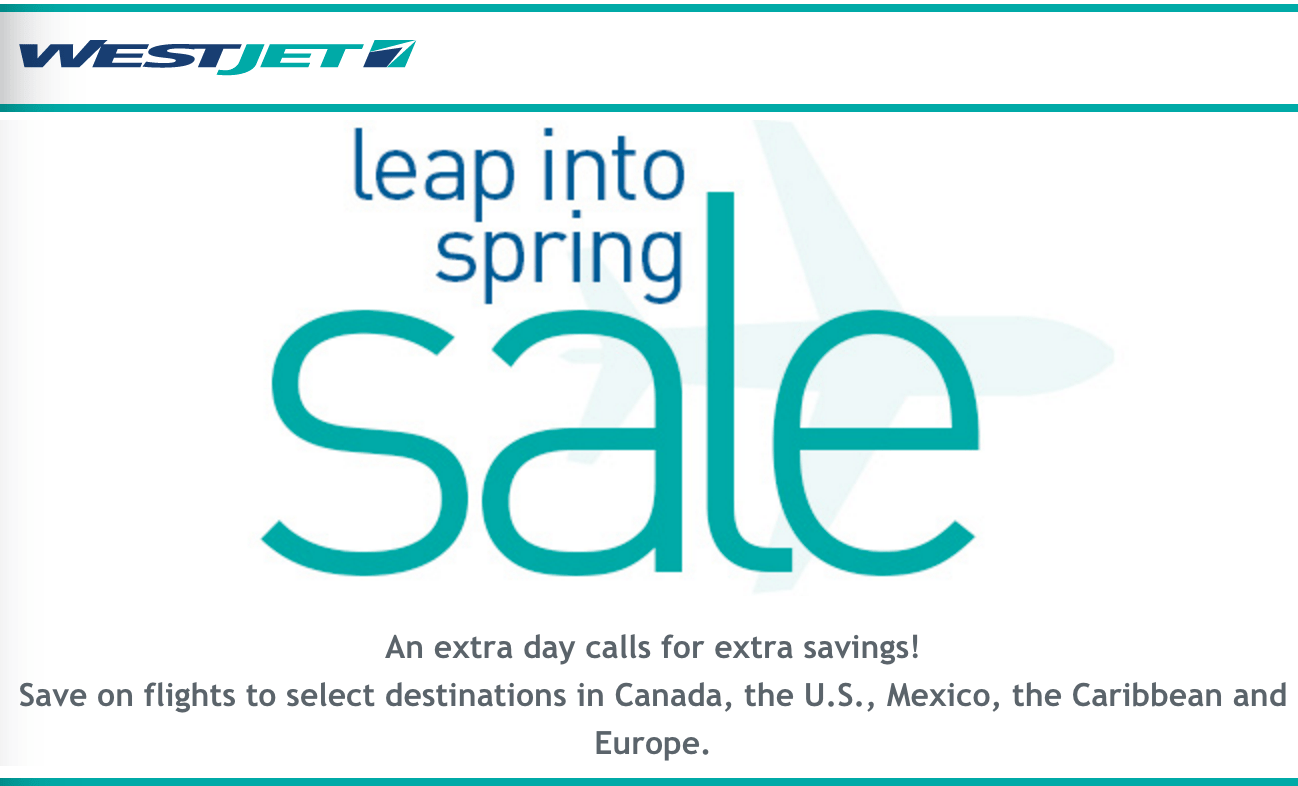 Westjet coupon code