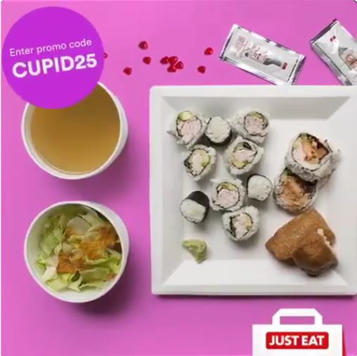 cupid25 justeat promo