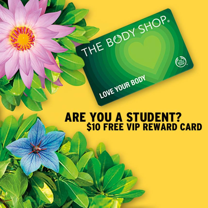 the body shop free LYB for students