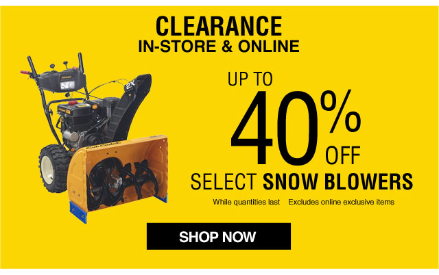 Lowe's Canada Clearance Sale: Save 40% Off Snow Blowers +