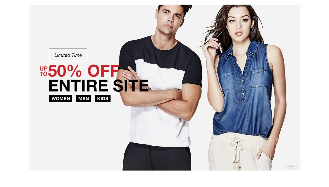 Guess Factory Sale up to 50% off sitewide