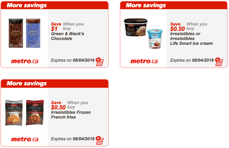 Metro Ontario Canada Exclusive Printable Coupons, March 31
