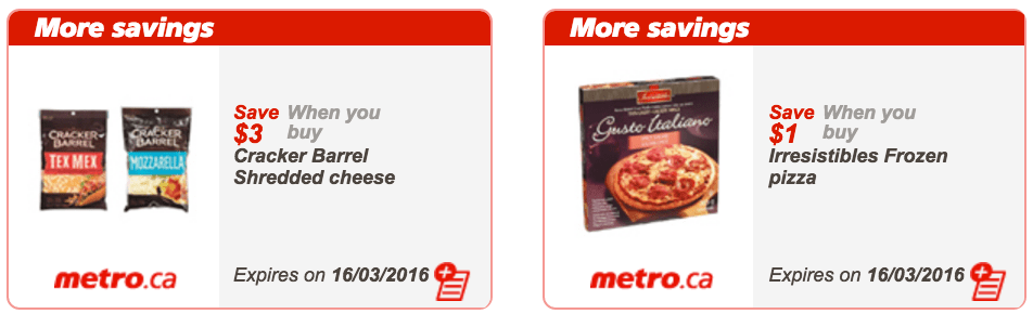 Metro Quebec Coupons