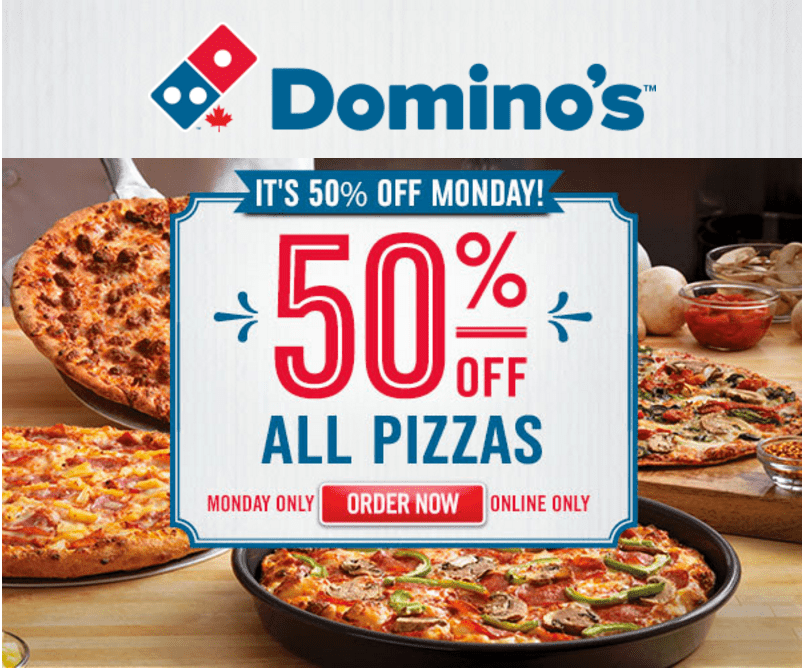 Latest add Domino's Pizza Canada Coupons