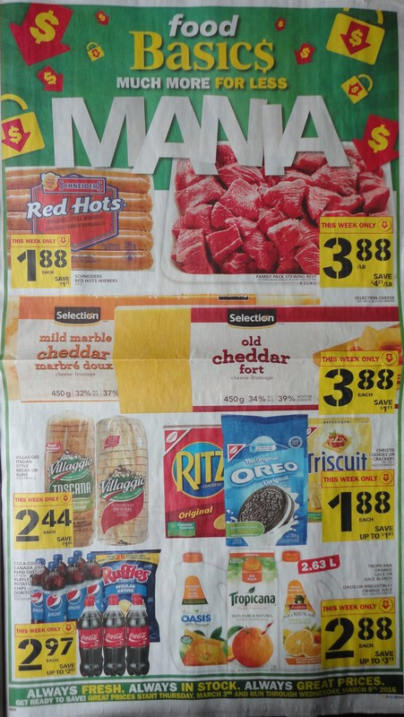 Food Basics Ontario Three Packages Of Schneiders Red Hots And Free