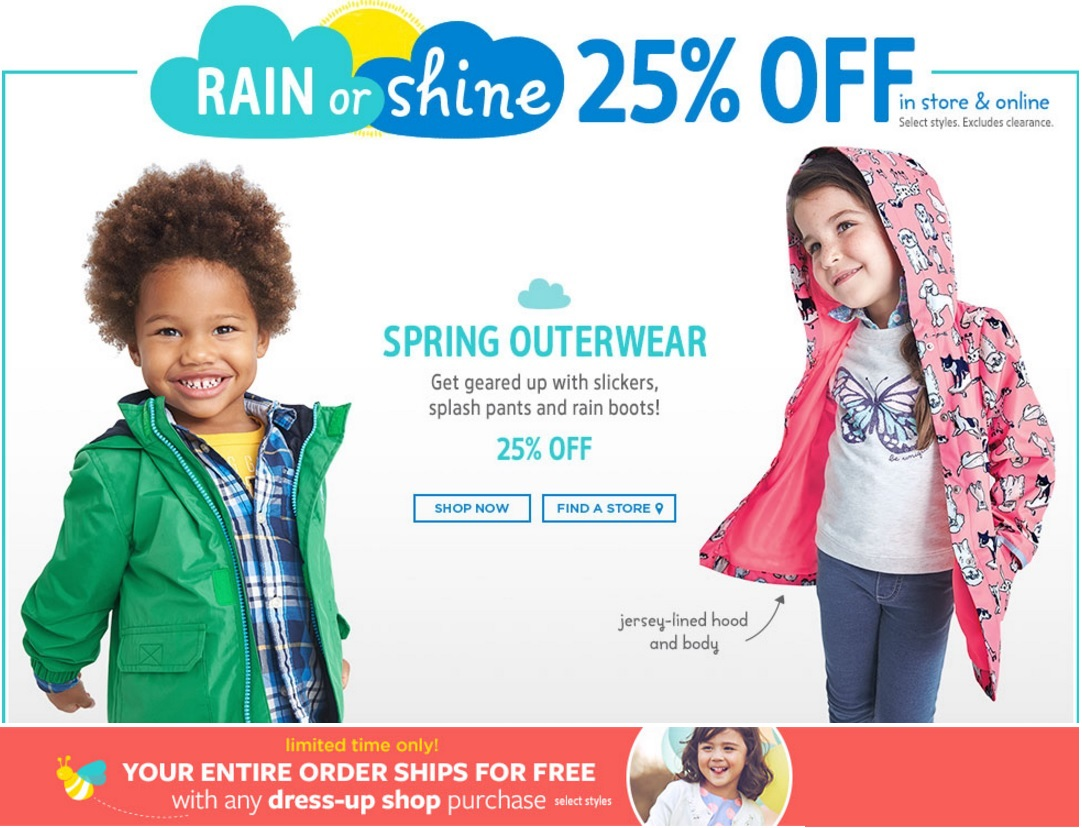 Carters outlet coupons canada