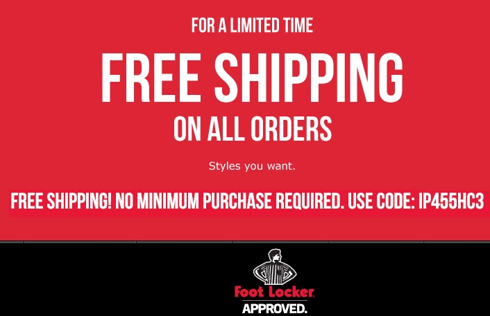 Foot Locker Coupon Codes. Foot Locker Free Shipping Policy. FREE shipping is available on select items. Domestic and international shipping options are available in rush delivery and standard delivery. Foot Locker Return Policy.