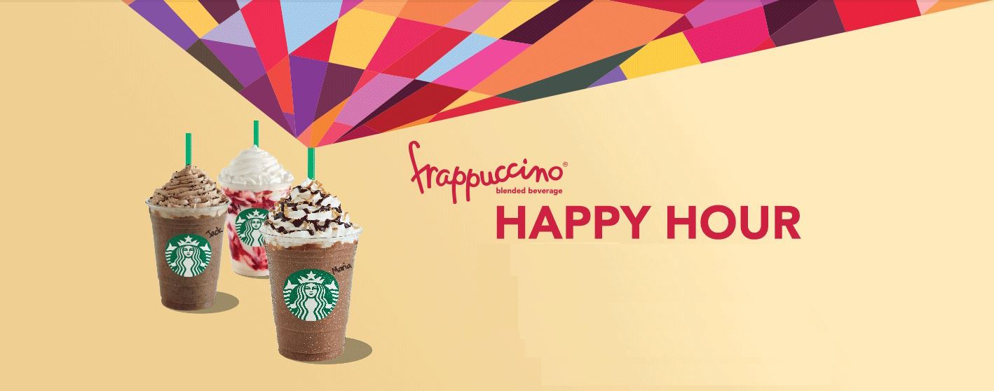 Starbucks Canada Frappuccino Happy Hours Are Back: Enjoy