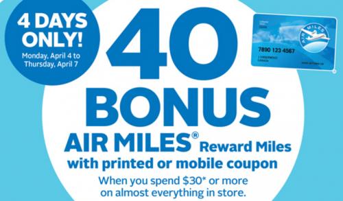 Rexall PharmaPlus Drugstore Coupon Bonus 40 Air Miles