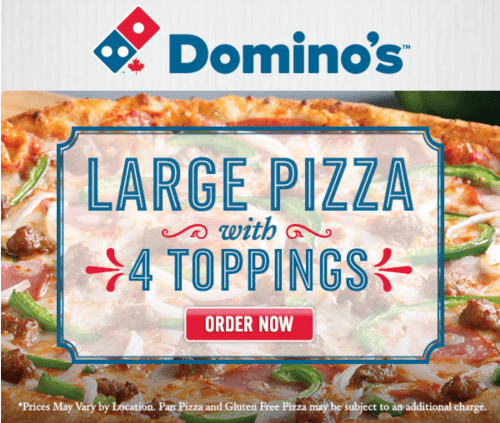 Any large specialty pizza coupon dominos