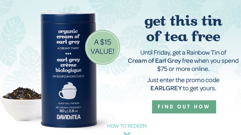 DAVIDsTEA Promo Codes & Cyber Monday Deals for November, Save with 13 active DAVIDsTEA promo codes, coupons, and free shipping deals. 🔥 Today's Top Deal: DAVIDsTEA as low as $85 at Amazon. On average, shoppers save $29 using DAVIDsTEA coupons from soundinstruments.ml5/5(4).