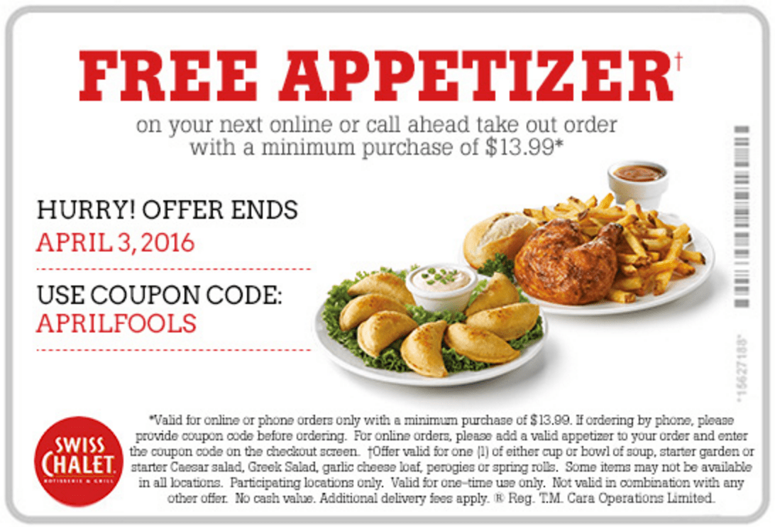 Swiss chalet canada coupon code 2018