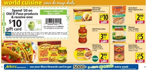 old el paso save on foods