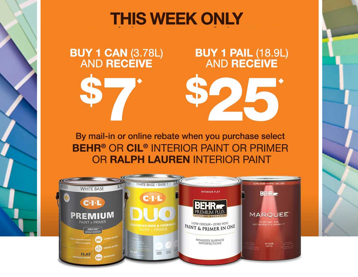 Home depot paint online rebate for Paint your home online