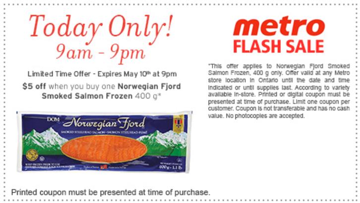 Metro Canada Flash Sale Coupon