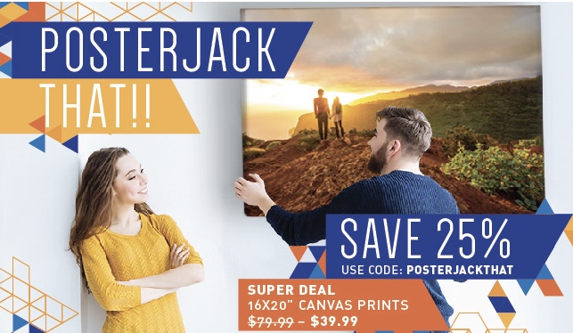 25% Off Poster Jack Canada Coupon, Promo Codes