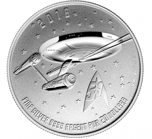Star TrekTM  Enterprise Canadian Coin