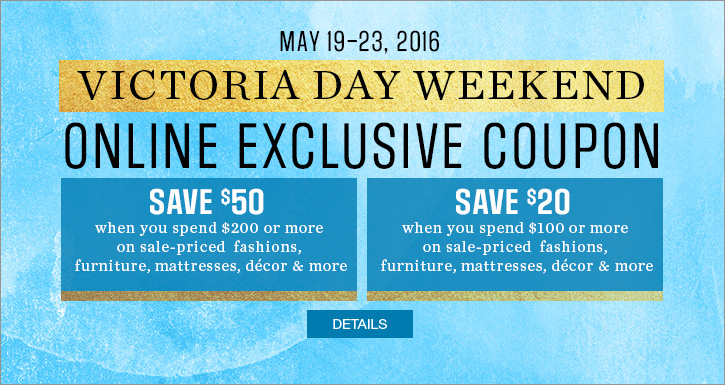 Sears Canada Victoria Day Deals Save Up To 50 With New