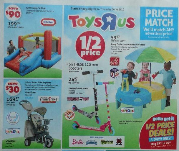 toys r us flyer sneak peek amp half price sales canadian