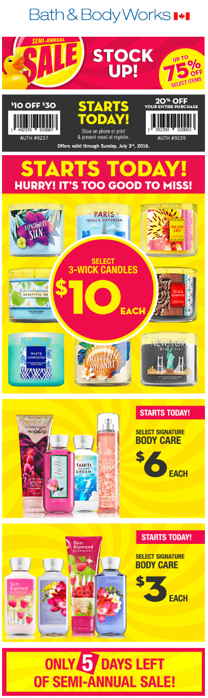 Bath & Body Works Semi-Annual sales begins today, June 8th. Come in ...