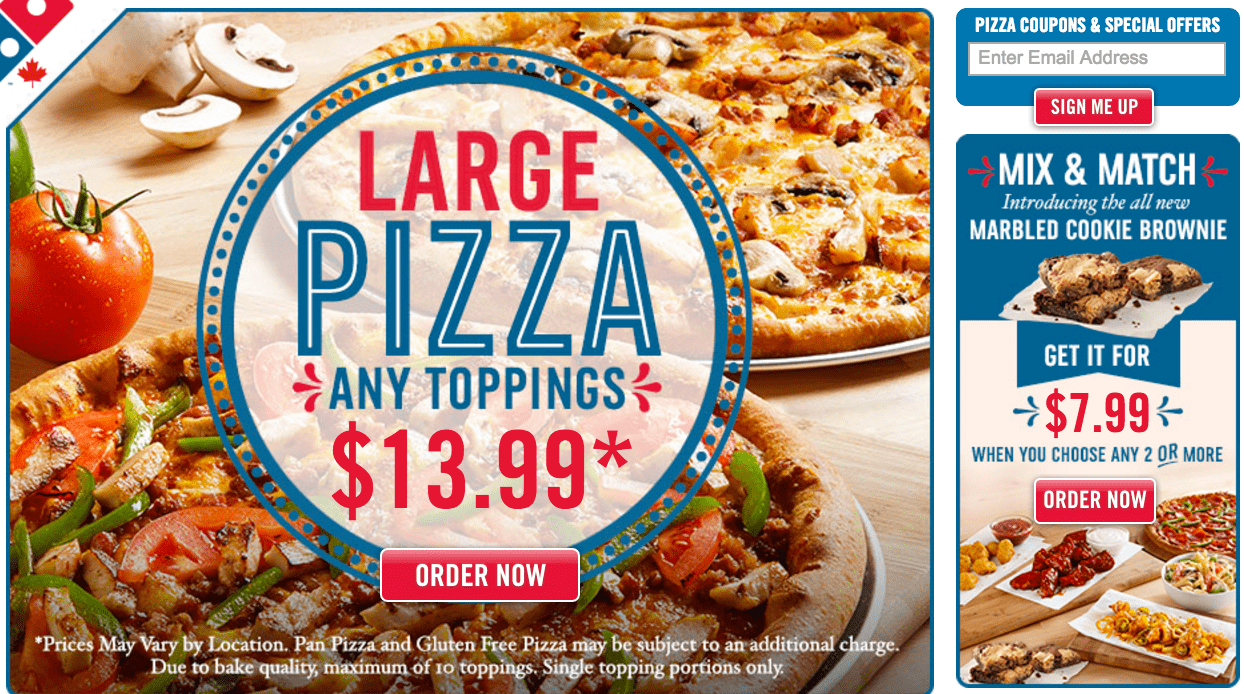 Dominos coupons discount large pizza