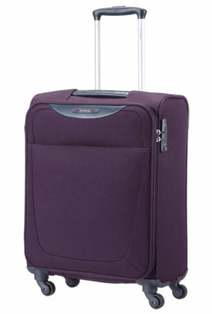 Samsonite softside luggage features a soft fabric exterior. In most cases, the exterior is made of woven nylon that is light in weight. In addition to being easier to carry, these bags also have some give, allowing you to fit more items in your suitcase.