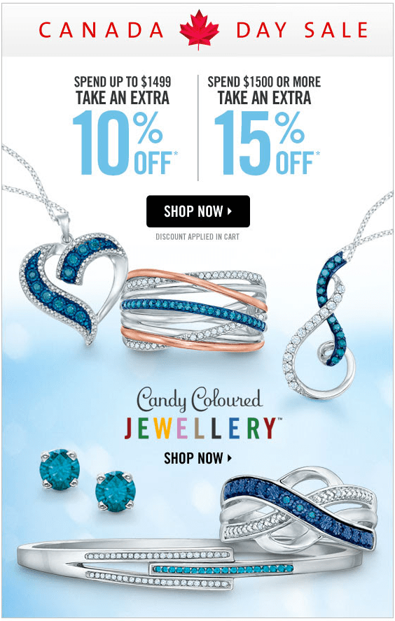 Peoples Jewellers Canada Day Sale: Buy More Save More – Take
