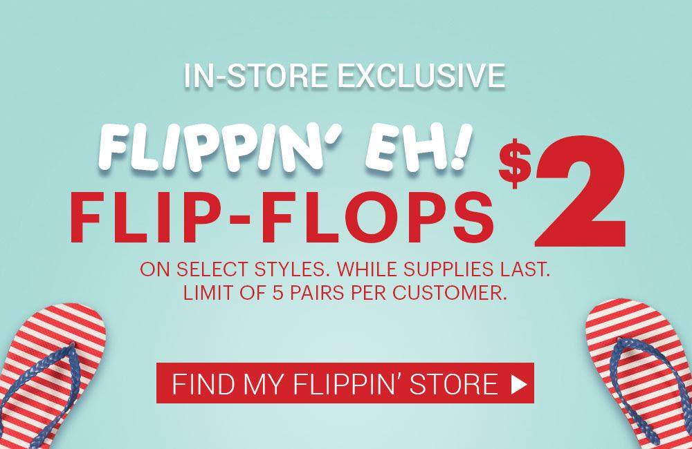 ardene $2 flip flops