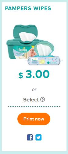 coupons pampers wipes