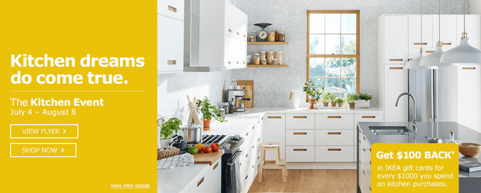 Ikea Canada Kitchen Event Get 100 Back In Ikea Gift