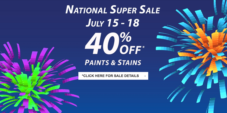 Sherwin Williams Canada National Super Sale Save 40 Off