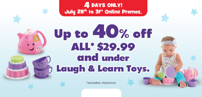 babies r us canada 4 day sale save up to 50 off car seats up to 40 off laugh learn toys. Black Bedroom Furniture Sets. Home Design Ideas