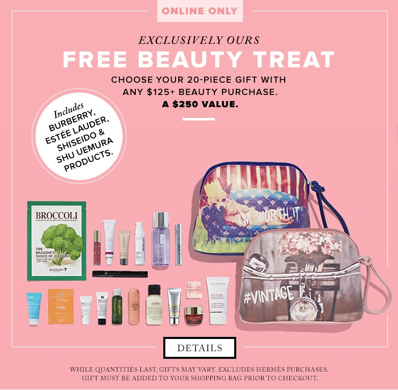 Hudson's Bay Canada Beauty Promotion: FREE Gift ($250+ Value) from ...