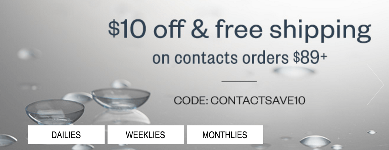 For Clearly Contacts Canada we currently have 19 coupons and 13 deals. Our users can save with our coupons on average about $ Todays best offer is Take $50 Off + Free Shipping.