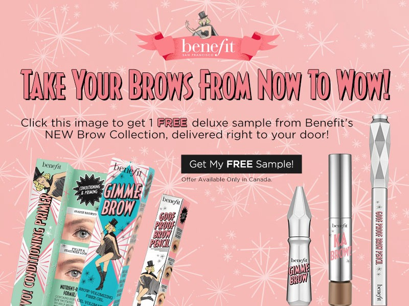 Canadian Free Samples: Benefit Brow Collection | Canadian Freebies ...