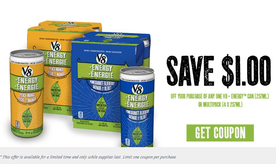 V8 energy coupons