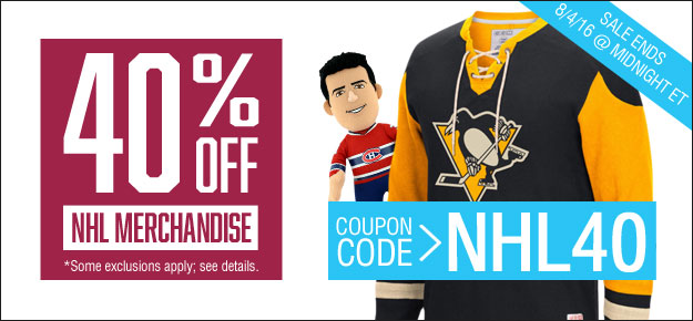 The best NHL Shop promo code right now is NHLSCORE This code is for '30% off Orders Over $49'. This code is for '30% off Orders Over $49'. Copy it and enter it on the NHL Shop checkout page to use it.