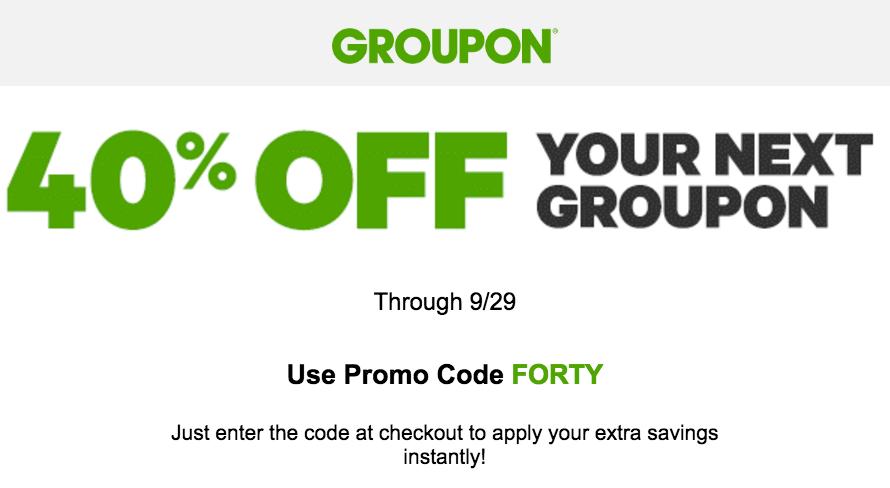groupon discount code today