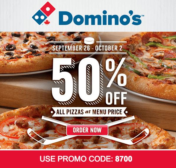 Sunday deals domino's pizza