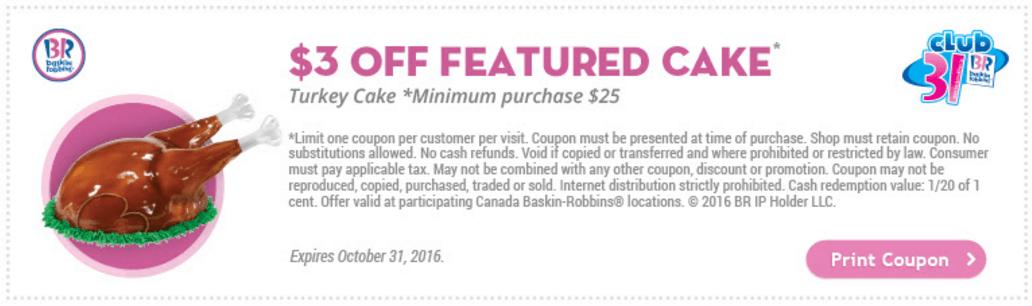 Baskin and robbins coupons