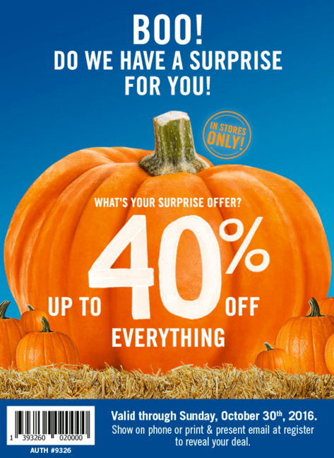 Bath & Body Works Canada Halloween Mystery Coupon: Up to 40% Off Everything + Hand Soaps, 3 for $10 + 50% Off Clearance Items & More Deals!