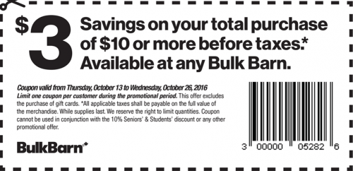 Bulk Barn Canada Coupon $3.00 Off $10 Purchase SmartCanucks.ca Deals