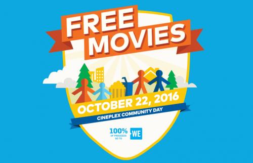 Cineplex Odeon Free Movies Community Day at SmartCanucks.ca Deals