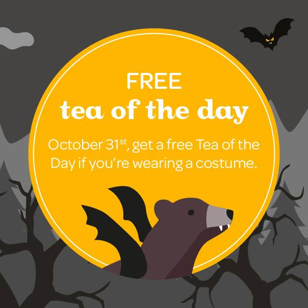 DAVIDsTEA FREE Tea Halloween Offer at Smartcanucks.ca