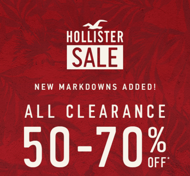 Hollister coupons sign up