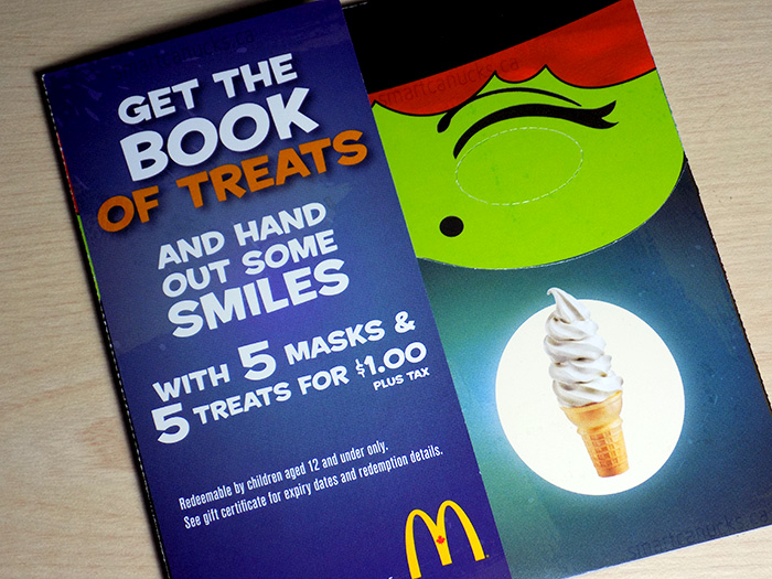 mcdonald's canada: halloween coupon booklets available + win 6 books ...